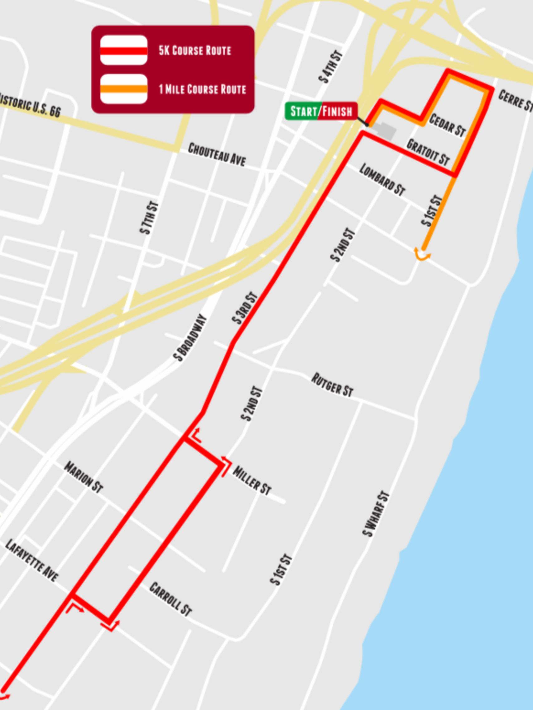 Rosary Run and Divine Mercy Mile Route